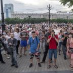 Thousands in Russia's Far East protest governor's jailing