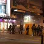 Hong Kong Police Fire Tear Gas at Protesters Near Polytechnic University