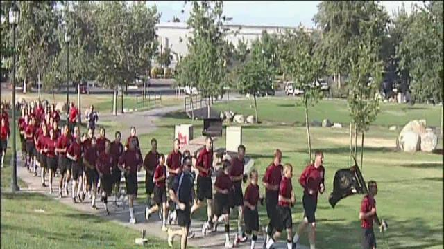 Academy class hits bike path for Pride Run