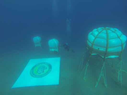 """<p>Since land in the Liguria region of Northern Italy is especially poor for farming, scuba diving company owner Sergio Gamberini and his son Luca picked unusual spot to garden: under the sea, inside five air-filled biospheres stationed 20 to 30 feet below the surface. (Credit: <a href=""""http://www.nemosgarden.com/"""" rel=""""nofollow noopener"""" target=""""_blank"""" data-ylk=""""slk:Nemo's Garden"""" class=""""link rapid-noclick-resp"""">Nemo's Garden</a>)</p>"""