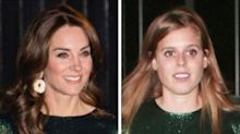 Kate Middleton And Princess Beatrice Look Nearly Identical In Shimmery Green Dresses