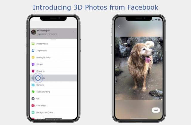 Facebook's 3D photos are here