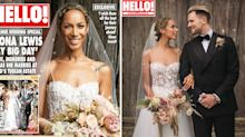Leona Lewis wears semi-sheer wedding dress to marry partner at Sting's Tuscan home