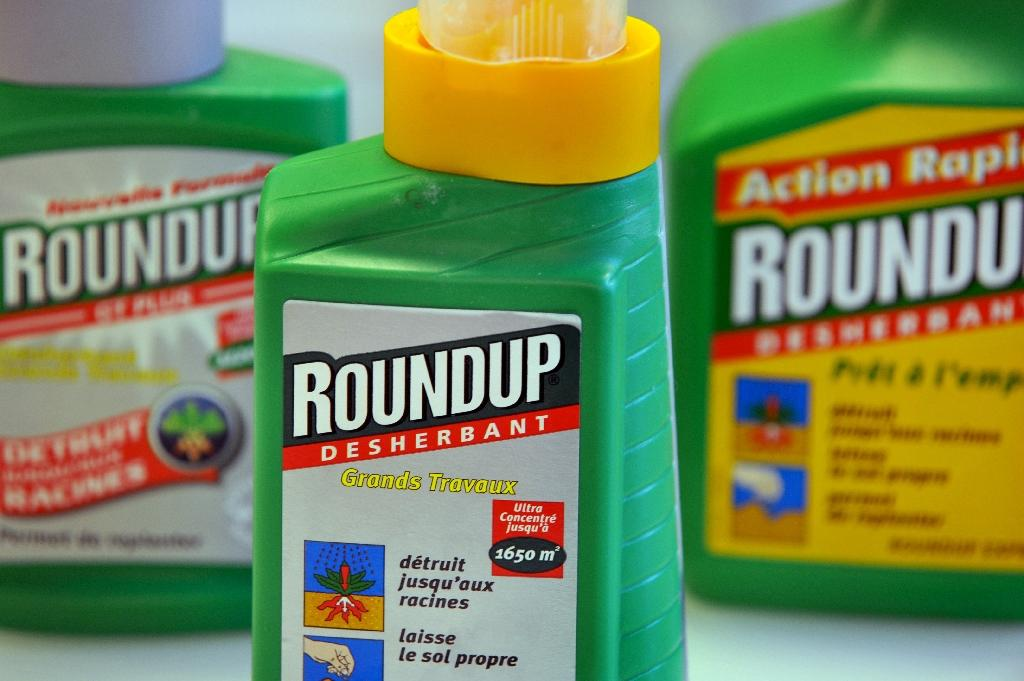 "IARC classified the herbicide glyphosate -- the active ingredient in Roundup -- as ""probably carcinogenic"" on the basis of ""limited evidence"" of cancer among humans (AFP Photo/Mychele Daniau)"
