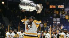 Phil Kessel eats hot dogs out of the Stanley Cup like a boss