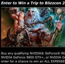 Nvidia offering up a chance to go to BlizzCon