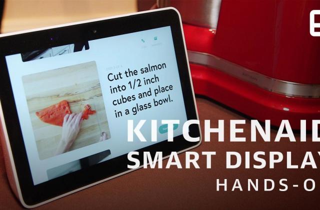 KitchenAid's smart display shrugs off sauce and running water