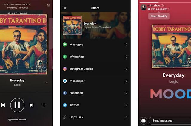 Instagram allows you to post to Stories from other apps