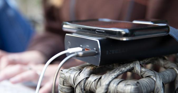 Press image of the ScoutPro wireless charging station.