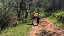 Mulher tira foto dos filhos sem perceber 2ª cobra mais venenosa do mundo perto deles