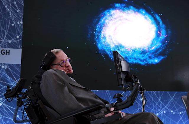 A Stephen Hawking musical tribute was beamed directly at a black hole
