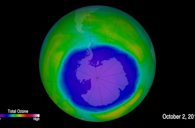Earth's ozone is on the path to recovery