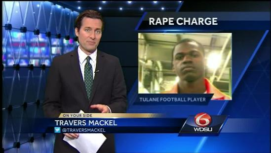 Star Tulane football player accused of rape appears in court
