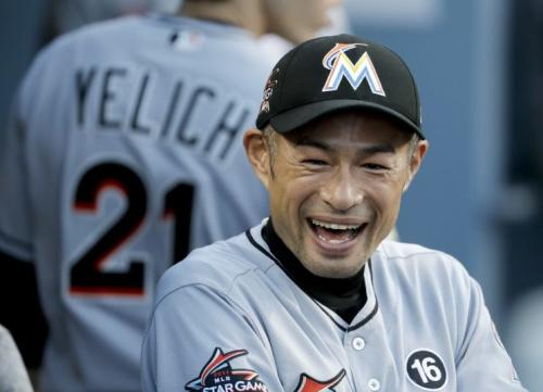 Ichiro Suzuki wants to play baseball until he's 50. (AP Photo)