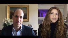 Los planes eco con sus hijos, la afición al skate... la animada charla de Shakira con el príncipe Guillermo