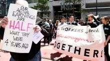 Uber and Lyft paid drivers to protest the bill that could make them employees
