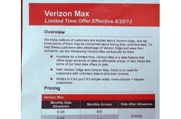 Verizon Max promo plan reportedly offers 6GB of data to Edge members for $30