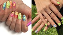 7 nail arts em neon para se jogar no Carnaval