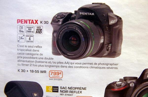 Pentax K-30 leaks out in French catalog, teases us with weather resistance and 1080p video