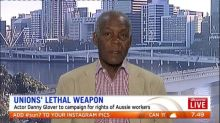 Danny Glover visits Australia to fight for rights of workers