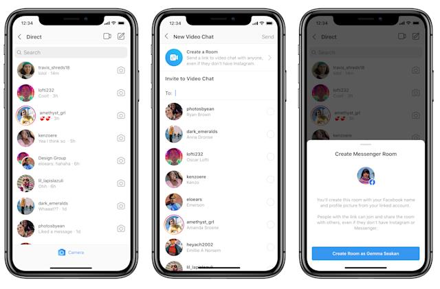 You can launch Facebook's Zoom rival from your Instagram inbox