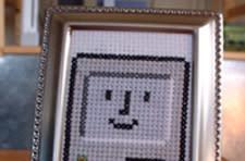 Happy Mac cross stitch