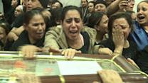 Thousands mourn victims of Egypt church wedding attack