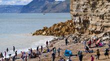 Huge section of cliff falls onto popular Dorset beach in UK