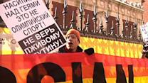 Gays Protest Outside NYC Russian Consulate