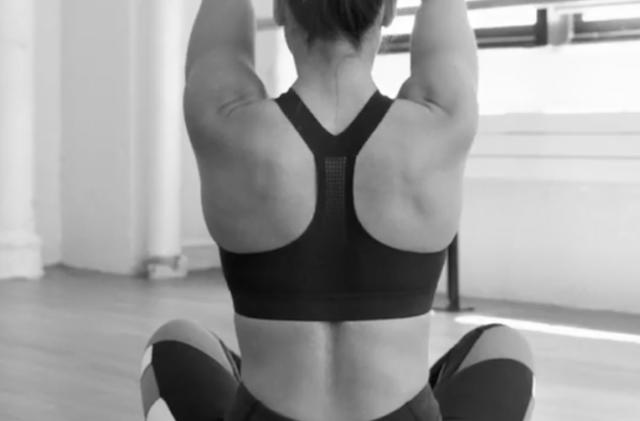 Reebok sports bra uses gel to change support as you move