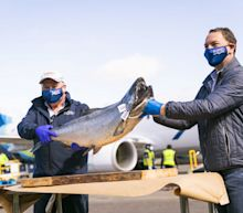 Alaska Airlines & partners serve up season's first Copper River salmon to first responders