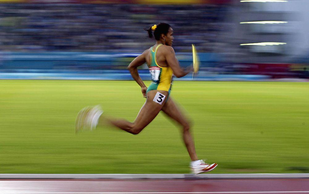 I visitatori del museo possono virtualmente sfidare Cathy Freeman in uno sprint finale di 10 metri. (Credits – Getty Images)