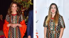 Who Wore It Best? Duchess Of Cambridge And Drew Barrymore Step Out In Same Designer Dress