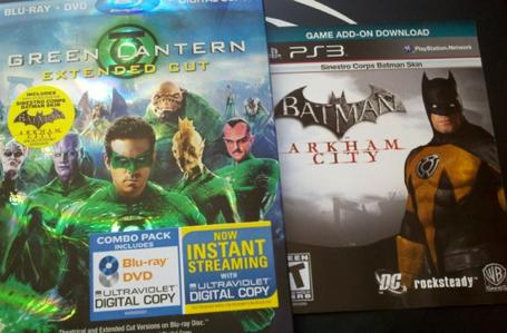 Green Lantern Extended Cut Blu-Ray combo pack to include Batman: Arkham City Sinestro Corps skin [update]