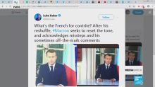 Reshuffle and a televised act of contrition for Macron