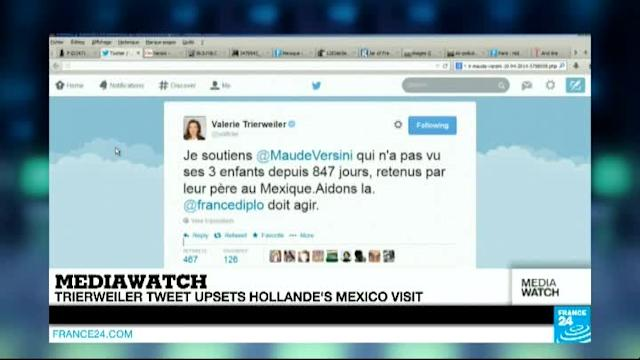 Trierweiler tweet embarrasses Hollande on Mexico visit