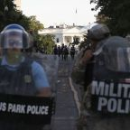 AP PHOTOS: A jarring scene in park near White House
