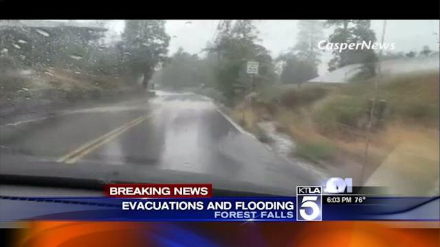 Thunderstorms Move Across Southern California, Cause Flash Flood in Forest Falls Area