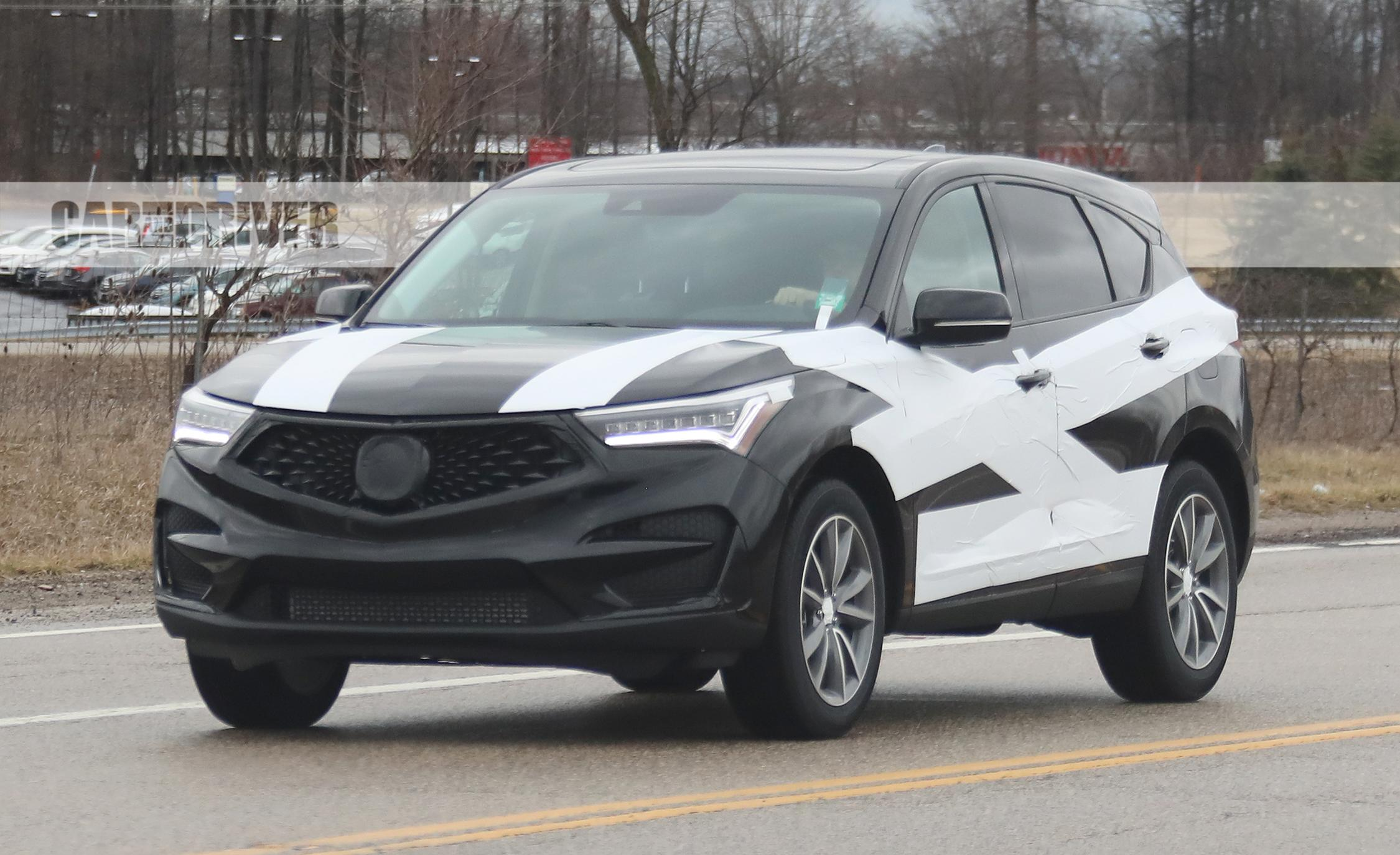 2019 acura rdx spied out and about in skimpy camo. Black Bedroom Furniture Sets. Home Design Ideas