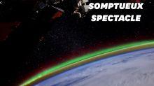 De sublimes aurores boréales filmées depuis l'espace par un cosmonaute