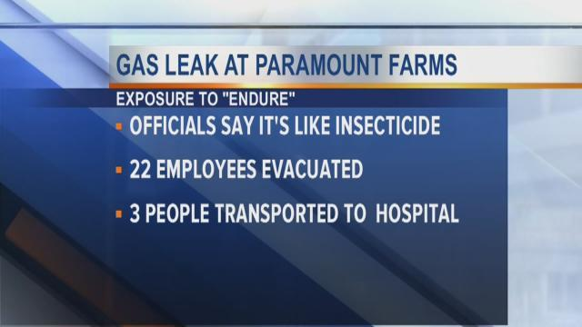 Gas leak at Paramount Farms
