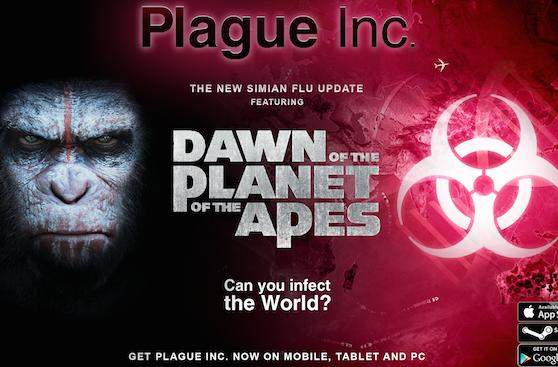 Plague Inc. to contract Planet of the Apes-inspired Simian Flu