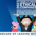 Hasbro Named as One of the 2021 World's Most Ethical Companies for 10th Consecutive Year