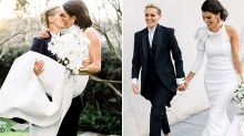 'Everything we ever wanted': Female footy star marries model girlfriend