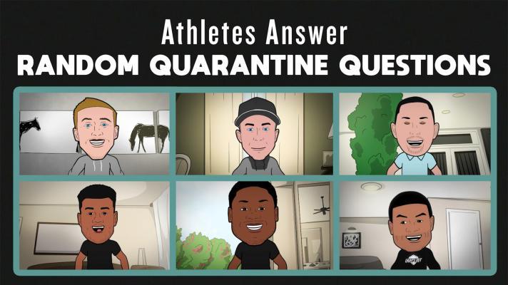 Athletes reveal their quirky quarantine habits