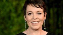 Olivia Colman chic in black Prada at 'The Crown' world premiere