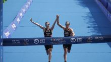 British triathletes DQ'd from Olympic qualifier for crossing finish line holding hands