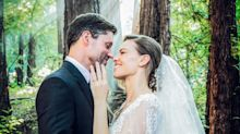 Hilary Swank Wears Elie Saab Couture and Christian Dior at Her Wedding in the Redwoods