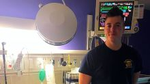 When an Olive Garden server learned his 8-year-old customer was undergoing brain surgery, he visited him in the hospital