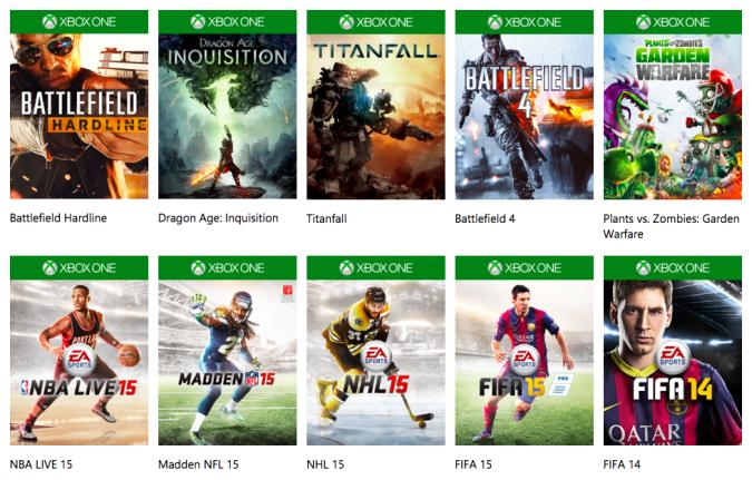 EA's Vault is free for Xbox One Gold members next week